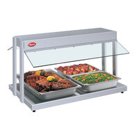 Hatco GRBW-24 24 inch Glo-Ray White Granite Buffet Warmer with Thermostatic Controls - 970W
