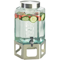 Cal-Mil 1111INF-55 2 Gallon Stainless Steel Cutout Beverage Dispenser with Infusion Chamber