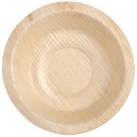 Eco-gecko Sustainable 4 inch Round Palm Leaf Bowl 25 / Pack