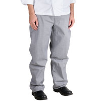 Chef Revival P034HT Size L Houndstooth Chef Trousers - Poly-Cotton