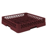 Vollrath TR16BB Traex Full-Size Burgundy 25-Compartment 6 3/8 inch Cup Rack
