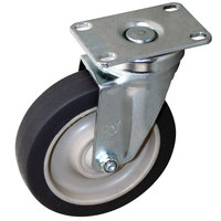 Frymaster 2800 Equivalent 5 inch Swivel Plate Caster - 300 lb. Capacity