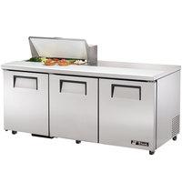 True TSSU-72-8-ADA 72 inch Three Door ADA Height Sandwich / Salad Prep Refrigerator
