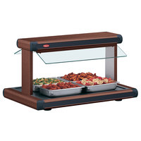 Hatco GR2BW-24 24 inch Glo-Ray Antique Copper Designer Buffet Warmer with Black Insets - 970W