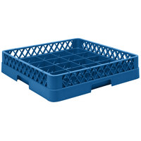Vollrath TR16BBBB Traex® Full-Size Royal Blue 25-Compartment 9 7/16 inch Cup Rack