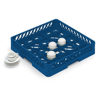 Vollrath TR16BBBB Traex Full-Size Royal Blue 25-Compartment 9 7/16 inch Cup Rack