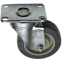 Garland / US Range 1027800 Equivalent 4 inch Swivel Plate Caster - 275 lb. Capacity