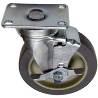 All Points 26-2375 5 inch Swivel Plate Caster with Brake - 300 lb. Capacity