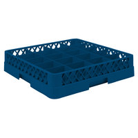 Vollrath TR5AA Traex Full-Size Royal Blue 20-Compartment 6 3/8 inch Cup Rack with Open Rack Extender On Top