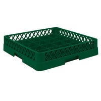 Vollrath TR16BB Traex® Full-Size Green 25-Compartment 6 3/8 inch Cup Rack