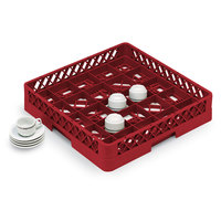 Vollrath TR16BBBB Traex Full-Size Red 25-Compartment 9 7/16 inch Cup Rack