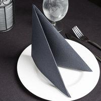 Hoffmaster FP1502 FashnPoint 15 1/2 inch x 15 1/2 inch Black Linen-Feel Dinner Napkin, 1/4 Fold - 800/Case