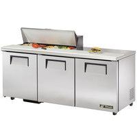 True TSSU-72-10-ADA 72 inch Three Door ADA Height Sandwich / Salad Prep Refrigerator