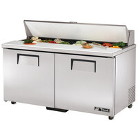 True TSSU-60-16-ADA 60 inch Two Door ADA Height Sandwich / Salad Prep Refrigerator
