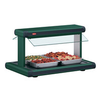 Hatco GR2BW-54 54 inch Glo-Ray Green Designer Buffet Warmer with Black Insets - 2290W