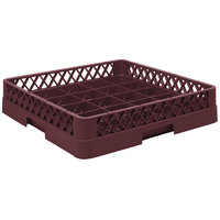 Vollrath TR16BBBB Traex® Full-Size Burgundy 25-Compartment 9 7/16 inch Cup Rack