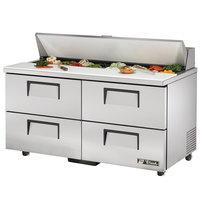 True TSSU-60-16D-4-ADA 60 inch Four Drawer ADA Height Sandwich / Salad Prep Refrigerator