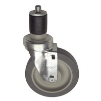 Component Hardware CMS4-5BPN Equivalent 5 inch Swivel Stem Caster for 1 5/8 inch O.D. Tubing - 300 lb. Capacity