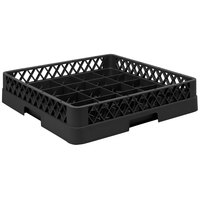 Vollrath TR16BBBB Traex® Full-Size Black 25-Compartment 9 7/16 inch Cup Rack
