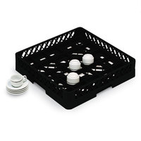 Vollrath TR16BBBB Traex Full-Size Black 25-Compartment 9 7/16 inch Cup Rack
