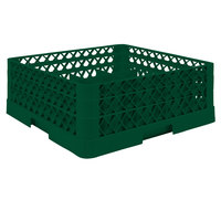 Vollrath TR5AA Traex® Full-Size Green 20-Compartment 6 3/8 inch Cup Rack with Open Rack Extender On Top