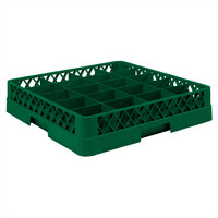 Vollrath TR5AA Traex Full-Size Green 20-Compartment 6 3/8 inch Cup Rack with Open Rack Extender On Top