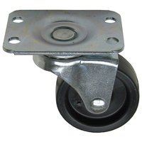 All Points 26-2380 2 inch Swivel Plate Caster with Brake - 100 lb. Capacity