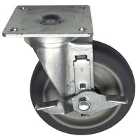 Vulcan 410118-21 Equivalent 5 inch Swivel Plate Caster with Brake - 300 lb. Capacity