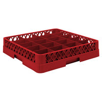 Vollrath TR5AA Traex Full-Size Red 20-Compartment 6 3/8 inch Cup Rack with Open Rack Extender On Top