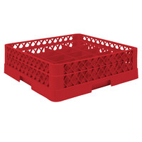 Vollrath TR5A Traex® Full-Size Red 20-Compartment 4 13/16 inch Cup Rack with Open Rack Extender On Top