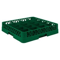 Vollrath TR5A Traex Full-Size Green 20-Compartment 4 13/16 inch Cup Rack with Open Rack Extender On Top