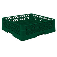 Vollrath TR5A Traex® Full-Size Green 20-Compartment 4 13/16 inch Cup Rack with Open Rack Extender On Top