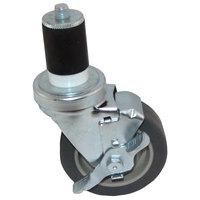 All Points 26-3364 4 inch Swivel Stem Caster with Brake for 1 5/8 inch O.D. Tubing - 250 lb. Capacity