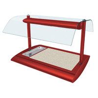 Hatco SRSSBW-1 Warm Red Serv-Rite Portable Heated Bermuda Sand Stone Buffet Warmer with Overhead Heating - 650W