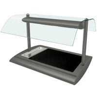 Hatco SRGBW-1 Gray Granite Serv-Rite Portable Heated Glass Buffet Warmer with Overhead Heating - 650W