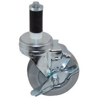 All Points 26-3378 4 inch Swivel Stem Caster with Brake for 1 inch O.D. Tubing - 240 lb. Capacity