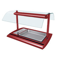 Hatco SRBW-1 Warm Red Serv-Rite Portable Pan Buffet Warmer with Overhead Heating - 800W
