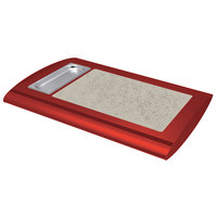 Hatco SRSS-1 Warm Red Serv-Rite Portable Heated Bermuda Sand Stone Buffet Warmer - 350W