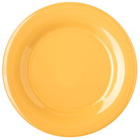 Carlisle 4301022 Durus 10 1/2 inch Honey Yellow Wide Rim Melamine Plate - 12/Case