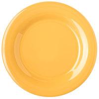 Carlisle 4301022 Durus 10 1/2 inch Honey Yellow Wide Rim Melamine Plate - 12/Case