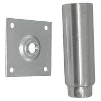 Component Hardware A84-5048 Equivalent Stainless Steel 6 inch Adjustable Equipment Leg; Hex Foot; 3 1/2 inch Plate Mount