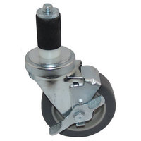 All Points 26-3313 4 inch Swivel Stem Caster with Brake for 1 3/16 inch O.D. Tubing - 250 lb. Capacity