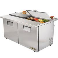 True TSSU-60-16-DS-ST-ADA 60 inch Dual Side Two Door ADA Height Sandwich / Salad Prep Refrigerator
