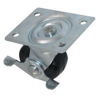 All Points 26-3336 2 1/2 inch Swivel Plate Caster - 200 lb. Capacity