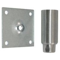 All Points 26-3230 Stainless Steel 4 inch Adjustable Equipment Leg; Hex Foot; 3 1/2 inch Plate Mount