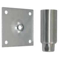 Component Hardware A48-5032 Equivalent Stainless Steel 4 inch Adjustable Equipment Leg; Hex Foot; 3 1/2 inch Plate Mount