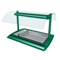 Hatco SRBW-1 Hunter Green Serv-Rite Portable Pan Buffet Warmer with Overhead Heating - 800W
