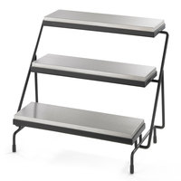 Tablecraft CaterWare CW40309S Three-Tiered Cooling Plate Stand - 24 3/4 inch x 17 inch x 19 3/4 inch