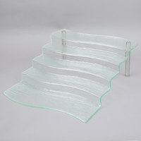 Tablecraft AW5 Cristal Collection 16 1/2 inch x 21 inch x 6 1/4 inch Acrylic 5 Step Waterfall
