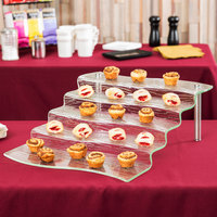 Tablecraft AW5 Cristal Collection Acrylic 5 Step Waterfall Riser - 16 1/2 inch x 21 inch x 6 1/4 inch